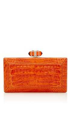 Mango Cayman Crocodile Rectangle Coffered by JUDITH LEIBER for Preorder on Moda Operandi