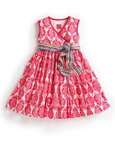 JNR CROQUET Girls Dress, Pink // Joules