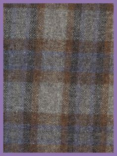 Tartan Plaid Wool Plaid  Fabric Brown Blue by TheMaineCoonCat, $8.00