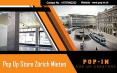 Now you don't have to set up a long-term store to get the benefits of a retail store as we provide you with short-term space that matches your budget. Book a unique space for your brand in Zurich Mieten, contact Pop In at