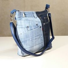 jeans upcycled bag