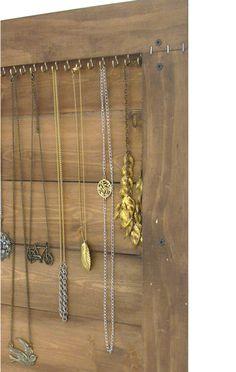 Jewelry Storage // Necklace Wall Organizer Display // Wall Rack // Handmade Driftwood Furniture // Eco-Friendly Home Decor // Reclaimed Wood