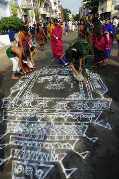 temple rangoli