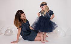 Woman Jeans Dress PAULA - dark blue denim, very pleasant and comfortable to wear. Limited Collection, Princess Style, Jeans Dress, Dress Collection, Simple Designs, Blue Denim, Dark Blue, Tulle, Girls Dresses