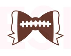 Football Bow SVG DXF EPS svg cutting files by ESIdesignsdigital