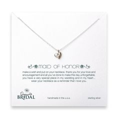Maid of Honor necklace gift