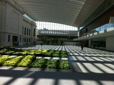 The renovations are done and the atrium spanning between the 2 buildings is amazing. A world class collection of art is represented here.
