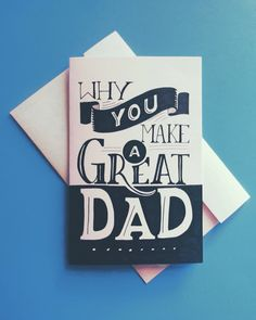 Hand lettered Father's Day card // by iamtiff creative #lettering #handdrawntype #handlettering