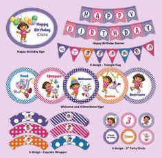 Dora The Explorer Printable Party Decoration Kit