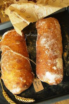 Pan rustico - chleb rustykalny Bread Machine Recipes, Bread Recipes, Cooking Recipes, Bulgarian Recipes, Polish Recipes, Polish Food, Bread Rolls, Food To Make, Food Porn