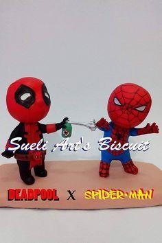 Deadpool X Spider-Man Biscuit Sueli Art's Biscuit