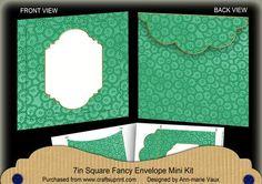 Dark Green Beaded Fancy 7x7inch Easy Envelope Mini Kit on Craftsuprint - Add To Basket!