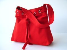 SALE... Lovely Bag in Crimson Red - everyday purse -