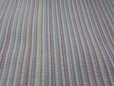 Multi Color Striped Seersucker Cotton Fabric 62 by Dockb30Crafts