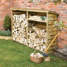 An extremely large firewood log store for the garden. Easy to assemble and is very strong. The firewood log store is pressure treated to give a long service life, with a shelf included the log store provides a perfect log storage solution. Outdoor Firewood Rack, Firewood Logs, Firewood Storage, Outdoor Storage, Garden Buildings, Wood Burner, Outdoor Projects, Home And Garden, Pallet Furniture