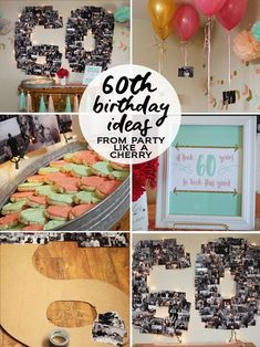 60th Birthday Party Ideas And Printables Partylikeacherry 60thbirthday