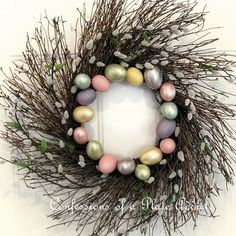 Pottery Barn Inspired Spring Wreath DIY (from: confessions of a plate addict)