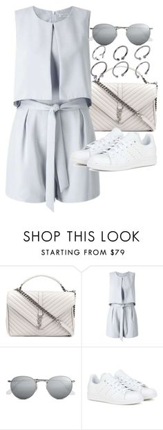 """""""Untitled #19895"""" by florencia95 ❤ liked on Polyvore featuring Yves Saint Laurent, Miss Selfridge, Ray-Ban, adidas and ASOS"""