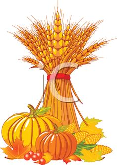 iCLIPART - Royalty Free Clipart Image of an Autumn Harvest