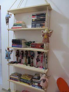 Simplesmente Aprendiz...Bem Aprendiz...Aprendiz Meeeesmo !!!!: Estante para livros e brinquedos