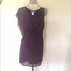 Purple Studded One Shoulder Dress Purple Studded One Shoulder Dress. Rouged side. Fits like a glove. Worn once and now it's too big for me. 100% Polyester. No PP or trading. Esley Dresses One Shoulder