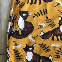 Foxy dress size 50 | Etsy Craft Supplies, Reusable Tote Bags, Fabric, Cotton, Handmade, Etsy, Dresses, Women, Tejido