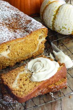 Recipe: Pumpkin Bread with Cream Cheese Swirl — 5 Festive Pumpkin Recipes from Nealey Dozier