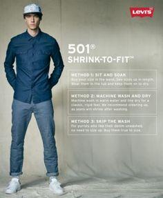 Levi's 501 Original Shrink-to-Fit Jeans - Blue 30x30