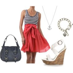 Really liking the whole nautical/red white and blue thing this summer.