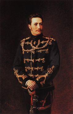 Konstantin Makovsky - Portrait of count Bobrinsky (in hussar's uniform), 1879
