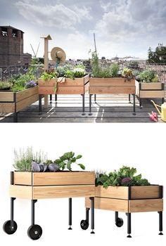 Modular system for cultivation vegeTable™ | #design Giacomo Borta #terrace #outdoor #garden