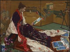 """""""Caprice in Purple and Gold: The Golden Screen"""" (1864) 