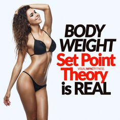 The body weight set point theory is the idea that your body likes to be at a certain weight. Once it hits this weight, it won't go too far above this point or below it. After dieting, the body will regain weight until it gets back to this set point. Diet Plans To Lose Weight Fast, Fast Weight Loss, Weight Loss Tips, Weight Set, Body Weight, Fitness Tips, Fitness Models, Workout Plan For Women, Workout Plans