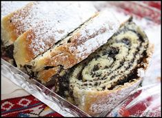poppy seed and nut strudel