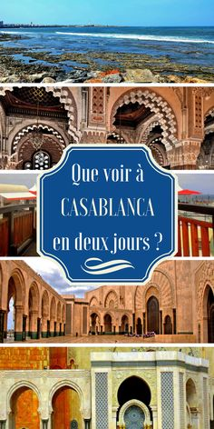 Casablanca est la plus grande ville du Maroc et pourtant, elle n'attire pas autant que Marrakech. La raison en est simple : elle n'incarne pas le Maroc touristique, ancien et intemporel, mais au contraire la modernité. Nous avons dressé notre TOP des lieux à visiter si vous devez visiter Casablanca rapidement. Destinations, Morocco, My Dream, Places To Go, Wanderlust, Around The Worlds, Europe, Simple, Travel Ideas