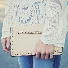 Fabled Waters Cross Body Tote in Cream $48