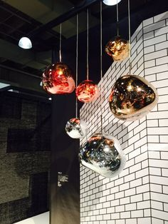 Melt pendants from Tom Dixon at ICFF