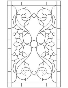 leaded or stained glass pattern// For my bathroom or side door window. - leaded or stained glass pattern// For my bathroom or side door window. Stained Glass Patterns Free, Stained Glass Designs, Stained Glass Projects, Mosaic Patterns, Design Patterns, Faux Stained Glass, Stained Glass Panels, Leaded Glass, Window Glass