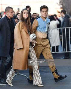 Barbara Palvin and Dylan Sprouse at the Prada Fashion Show in Milan Barbara Palvin, Fashion Couple, Fashion Show, Dylan Sprouse Girlfriend, Foreign Celebrities, Dylan And Cole, Celebrity Couples, Celebrity Babies, Star Fashion