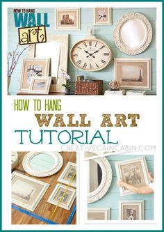 How to Hang Wall Art Tutorial ~ Creative Cain Cabin