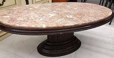 Marble-topped coffee table in Arnold's parlor, San Francisco, 1850.