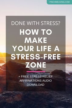 If you're done with stress but not sure how to actually reduce the stress in your life, click through for this free coaching vlog. Receive advice to help you take your mindset and approach to life in a new direction, with making peace a priority and sayin