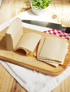make your own Vegan Cheese for slicing