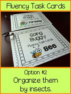 Going Buggy - Insect Fluency Task Cards