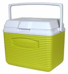 Rubbermaid 10-Quart Personal Cooler, Bamboo Green by Rubbermaid. $20.00. Stain and odor resistant. Easy-to-clean liner. Holds 12 cans plus ice. Superior thermal retention keeps food and beverages cold. Top swing handle for easy carrying. The Rubbermaid 1786643 10 Quart Personal Cooler - Bamboo Green is perfect for a quick trip to the pool or ball park, the 10-quart Cooler holds 12 cans plus ice. Its superior thermal retention keeps food and beverages cold. It h...