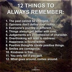12 Things To Always Remember...Fbk