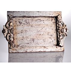 Abigails Vendome Silver Leaf Vanity Tray ($65) ❤ liked on Polyvore featuring home, bed & bath, bath and bath accessories