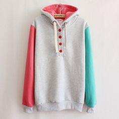 Women's fashion fleece hoodie