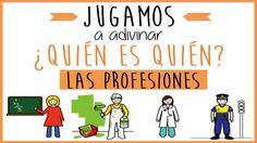 Las profesiones: Juego educativo para niños. Jugamos a adivinar ¿quién es quién?