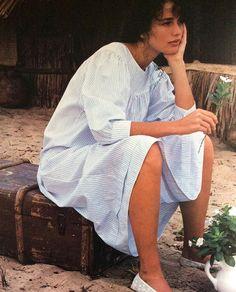 Andy McDowell wearing Kenzo shot by Albert Watson Vogue 1980's @sqchoi